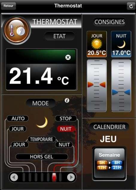 Thermostat de la Zibase