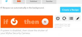IFTTT : Lier la caméra Myfox Security Camera et l'alarme Myfox HC2