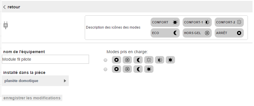 HomeLive de Orange : configuration du fil pilote