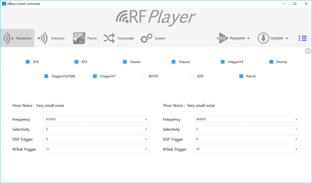 RFPlayer : réception sur l'appli