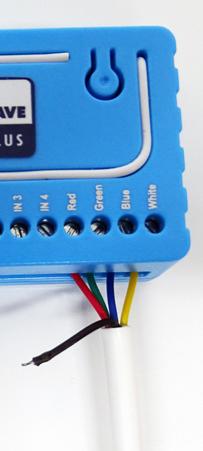 Connectiques sur un contrôleur Qubino RGBW