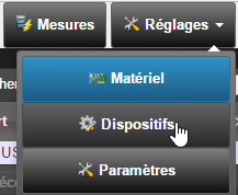 Domoticz et RFPlayer : rubrique Dispositifs