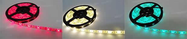 Coloris de bandeau de LEDs sans les LEDs blanches