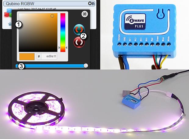 Qubino : contrôleur RGBW Z-Wave