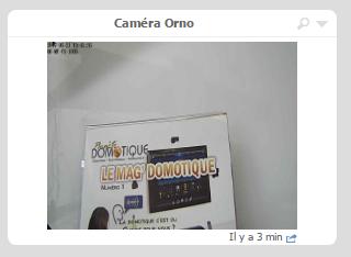 Vue de la caméra IP Orno dans l'eedomus