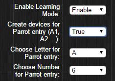 Fonction Parrot sur le plugin Domoticz pour le RFPlayer