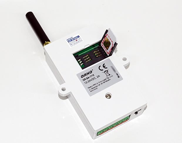 Carte sim dans le module GSM de Orno