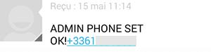 GSM : Numéro d'administrateur