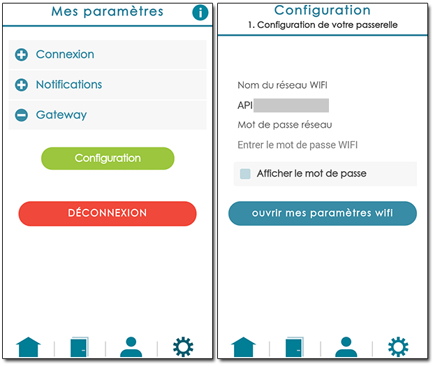 Application serrure connectée synchro gateway