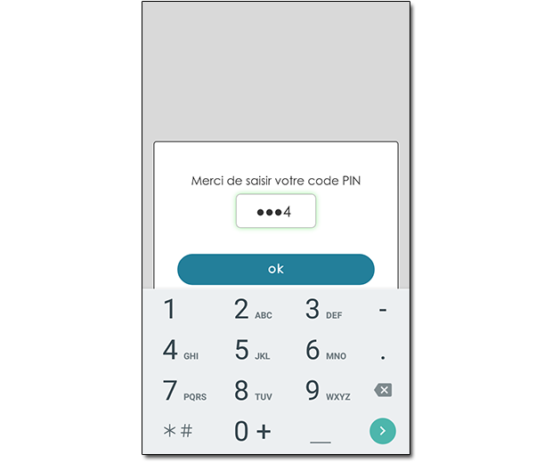 Code pin pour l'application de la serrure connectée Somfy
