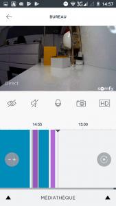 Interface de la caméra