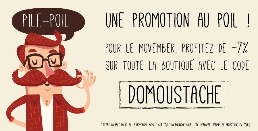 Promotion -7% pour le Movember