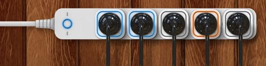 Plusieurs prises Smart Switch 6 côte à côte.