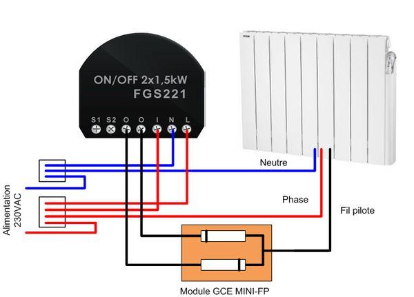 module diodes fil pilote. Black Bedroom Furniture Sets. Home Design Ideas