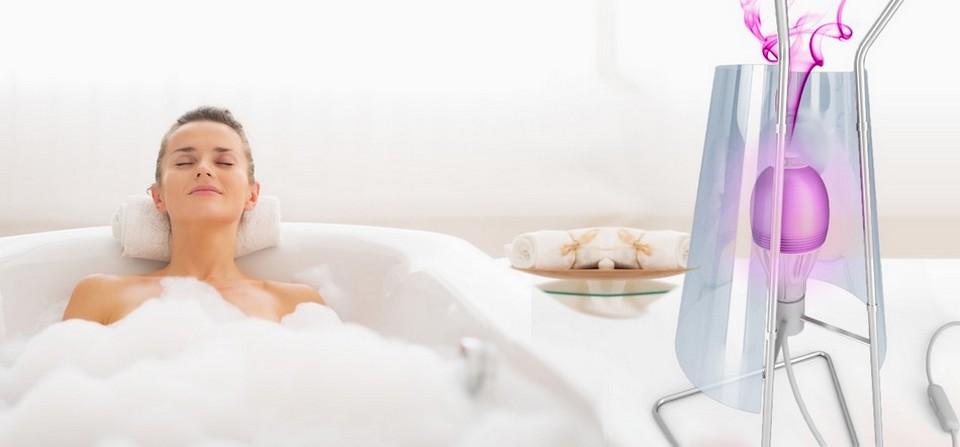 ampoule connectée AromaLIGHT (salle de bain)