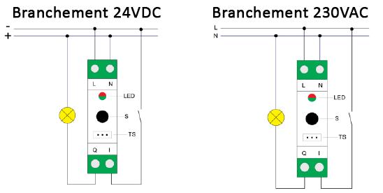 Schéma de branchement du QUB_ZMNHSD1