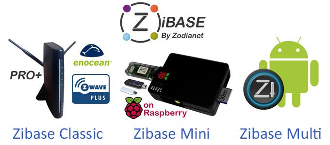 Les trois solutions Zibase : Zibase Classic, Zibase Pro, Zibase Mini