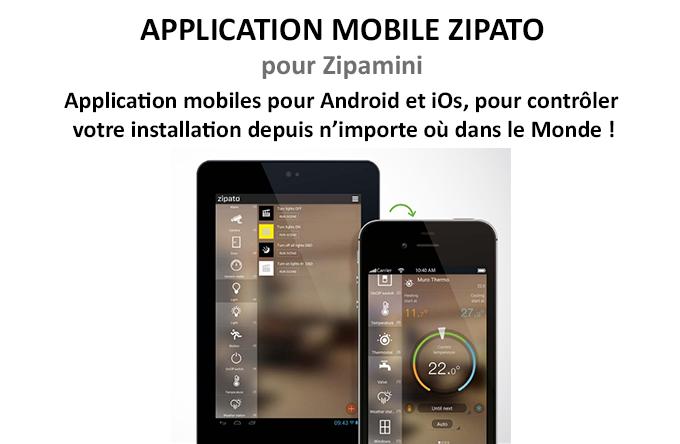 Application mobile Zipato pour Zipamini
