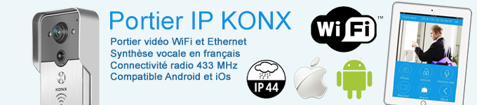 Portier IP WiFi Knox avec synthèse vocale