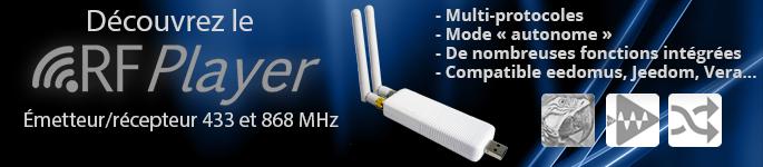 Module RFPlayer émetteur récepteur domotique multiprotocoles
