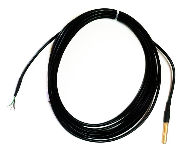 Sonde de temp rature 1 wire tanche 3 m tres sans connecteur for Sonde temperature exterieur 307