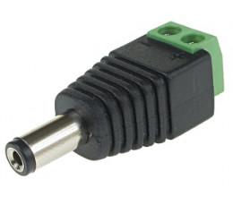 Connecteur d'alimentation DC Mâle 2.1/5.5 à visser