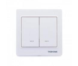 Double interrupteur variateur Z-Wave Plus Blanc - TKB Home