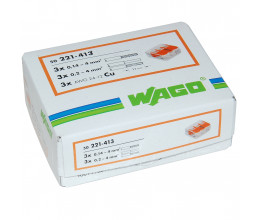 Lot de 50x borniers de raccordement rapide avec levier (3 bornes) - WAGO