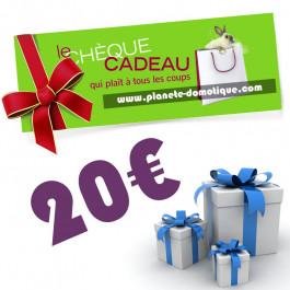 Chèque cadeau de 20 euros