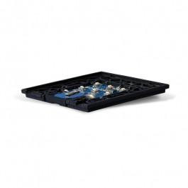 Interrupteur sans fil Edisio modèle Diamond Noir 4 touches avec base Noire