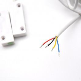 Détecteur d'ouverture magnétique avec gaine de 3m - ELMDENE