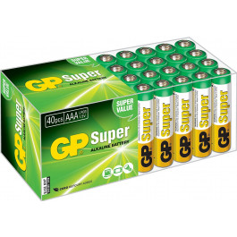 Lot de 40 piles AAA alcalines LR03 - GP Super