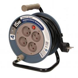 Enrouleur électrique domestique 15m, 4 prises - Orno