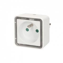Prise lampe de chevet carrée à LED - Orno