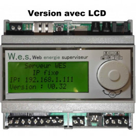 Serveur de suivi d'énergie Web energie superviseur avec écran LCD inclus