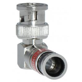 Fiche de connexion BNC à compression RG59 coude 90° - Wizelec