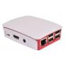 Boitier officiel blanc et framboise pour Raspberry Pi version 3