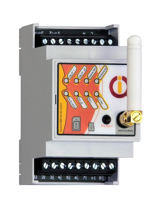 boitier rail-din pilotable par gsm et bluetooth avec détection de