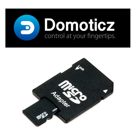 carte micro sd 8go adaptateur inclus avec domoticz raspberry pi pr install. Black Bedroom Furniture Sets. Home Design Ideas