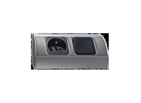 bloc cuisine 1 prise avec interrupteur orno. Black Bedroom Furniture Sets. Home Design Ideas