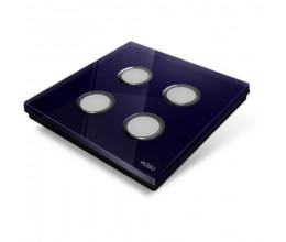Plaque de recouvrement Diamond - Bleu Nuit 4 Touches - Edisio