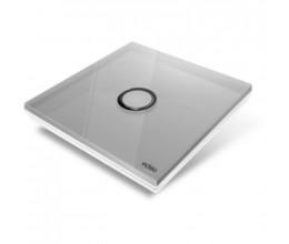 Plaque de recouvrement Diamond pour base Edisio - 1 touche, coloris Gris