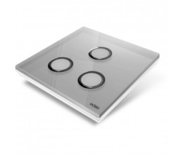 Plaque de recouvrement Diamond - Gris 3 Touches - Edisio