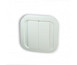 Double interrupteur sans fil Z-Wave Plus - Blanc Cozy - NodOn
