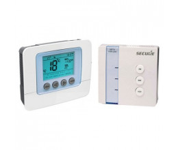 Pack thermostat électronique programmable + récepteur Z-Wave - SECURE