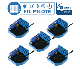 Lot de 5 modules Fil Pilote encastrable Z-Wave Plus - QUBINO