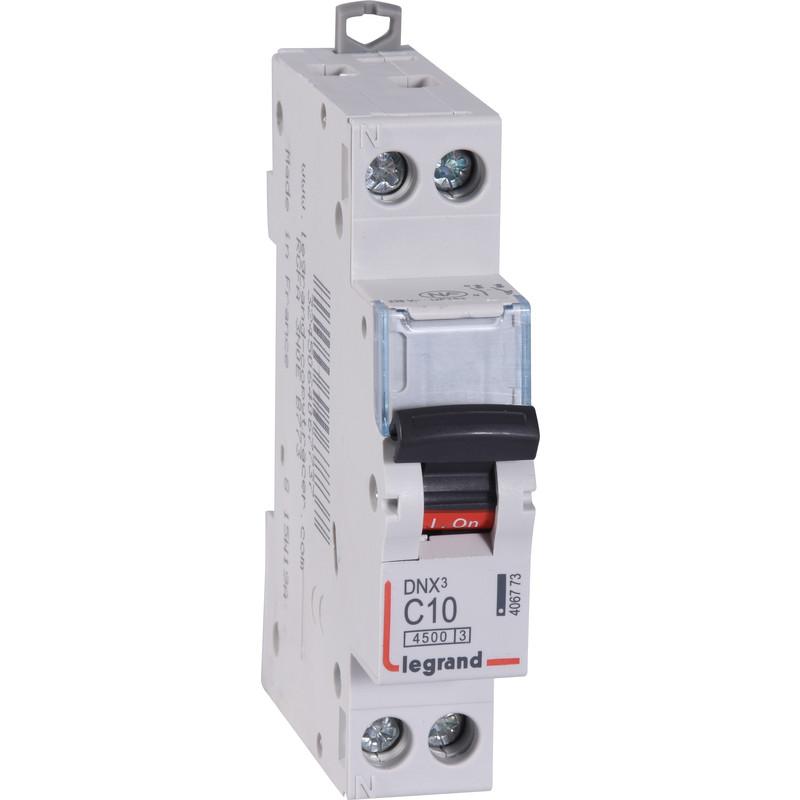 Disjoncteur rail din 10a dnx avec borniers vis legrand - Telecommande eclairage exterieur legrand ...