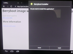 Berryboot : télécharger l'installation