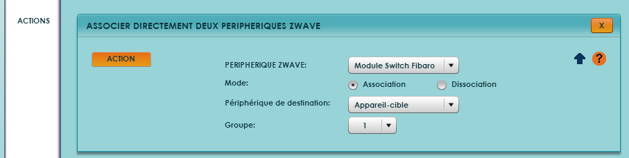 Configurer le ZiBASE par association radio