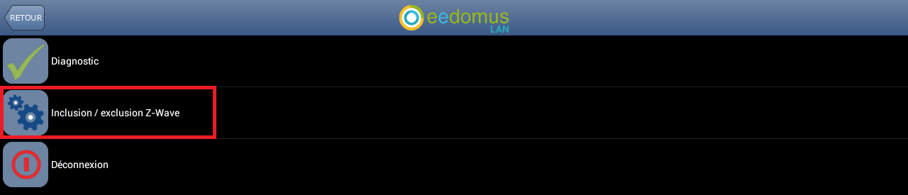 Inclusion App Android Eedomus 2